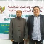 Dr. Supriyanto Pasir, M.Ag., bersama Dekan Kulliyyatul Adab Universitas Canal Swes Ismailiyyah, Mesir.